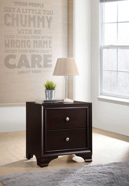 Acme Furniture Blaise Espresso Two Drawers Nightstand ACM-97504
