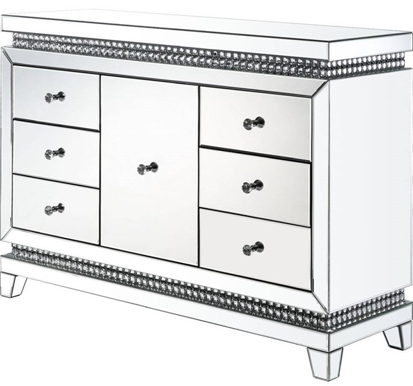 Acme Furniture Lotus Clear Console Table ACM-97813
