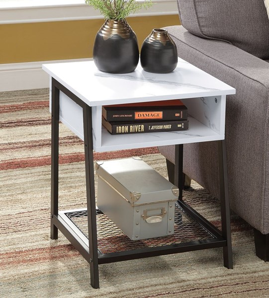 Acme Furniture Taurus White Accent Table ACM-97906