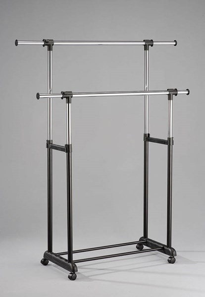 Lera Black Metal Garment Rack w/4 Casters ACM-98104
