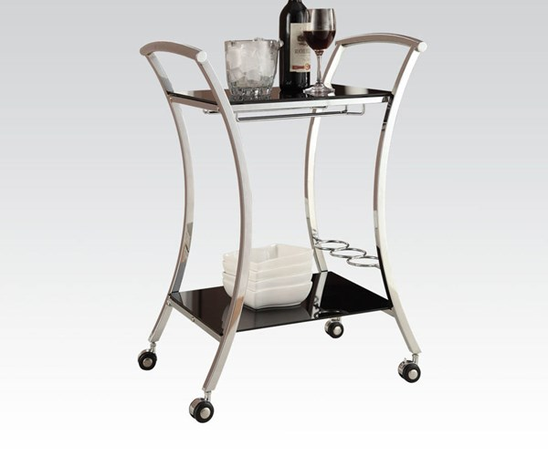 Acme Furniture Anker Chrome Metal Serving Cart ACM-98128