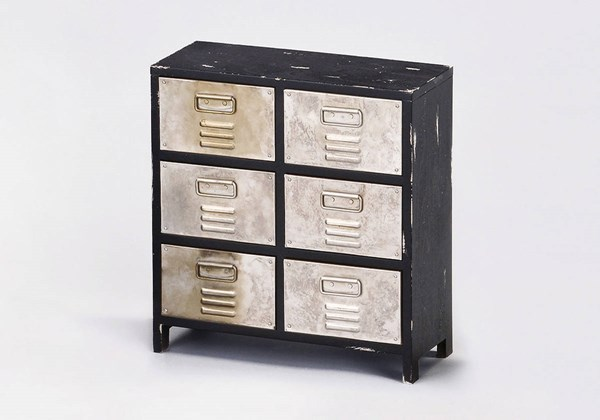 4 Nahal Silver Wood 6 Drawers Organizer Boxes ACM-9824-JEWL-ARMO-VAR