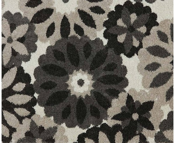 Huxley Charcoal Rectangle Small Rug w/Floral Design ACM-99054