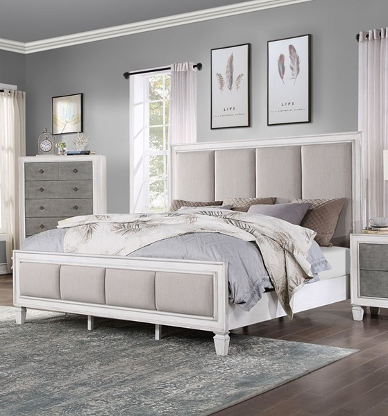 Acme Furniture Katia Gray White Beds ACM-BD00660-BEDS
