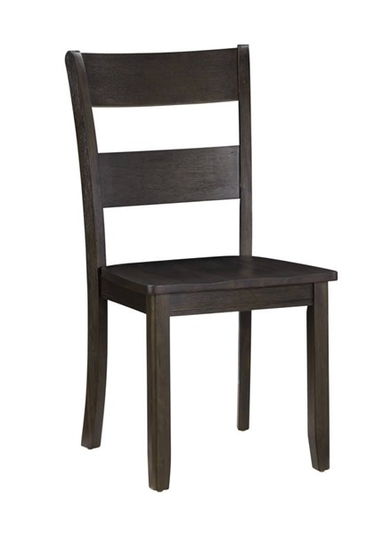 2 Acme Furniture Haddie Distressed Walnut Wood Side Chairs ACM-72212