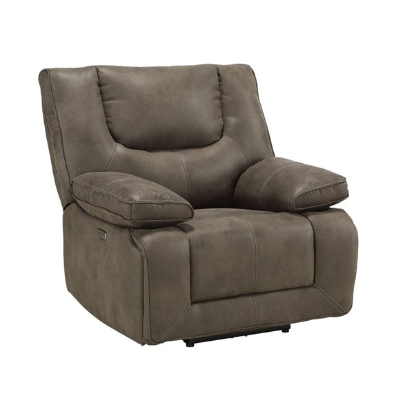 Acme Furniture Harumi Gray Leather Power Recliner ACM-54897