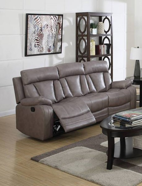 Isidro Gray Faux Leather Wood Metal 3pc Living Room Sets ACM-ISIDRO-LR-S2