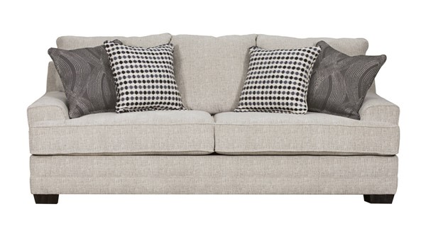 Acme Furniture Avedia Beige Gray Chenille Sofa with 4 Pillows ACM-55805
