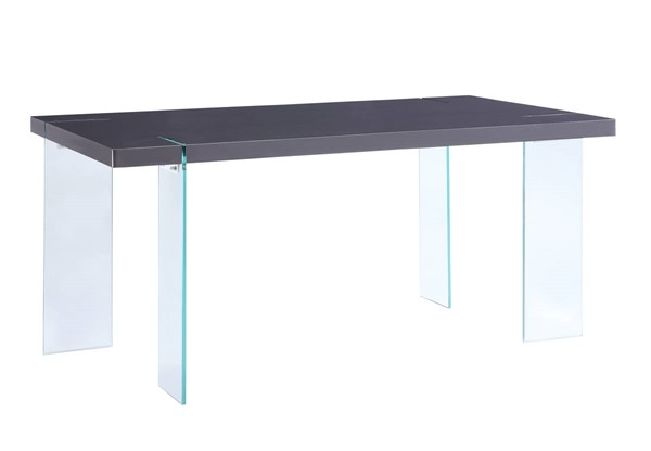 Acme Furniture Noland Gray High Gloss Wood Glass Dining Table ACM-72190
