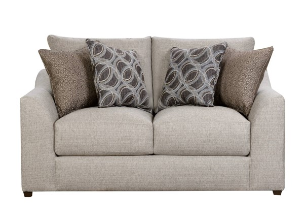Acme Furniture Petillia Sandstone Fabric Loveseat with 4 Pillows ACM-55852