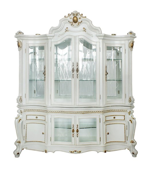 Acme Furniture Picardy Antique Pearl Hutch and Buffet ACM-63464