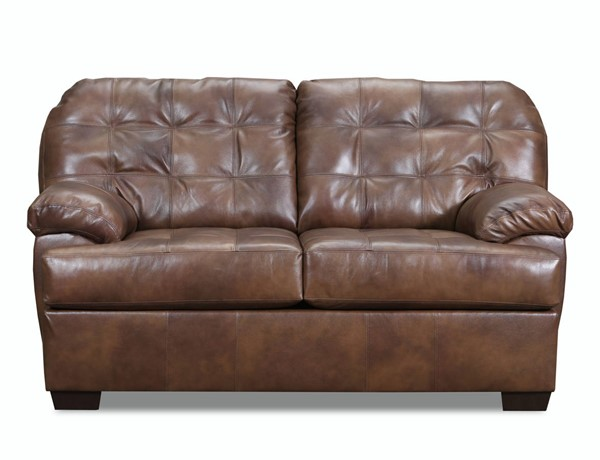 Acme Furniture Saturio Two Tone Brown Leather Loveseat ACM-55776