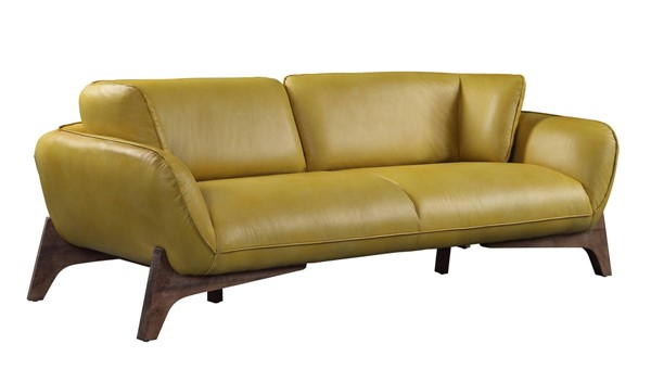 Acme Furniture Pesach Mustard Leather Sofa ACM-55075
