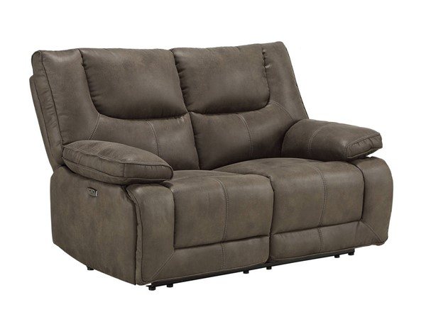 Acme Furniture Harumi Gray Leather Power Loveseat ACM-54896