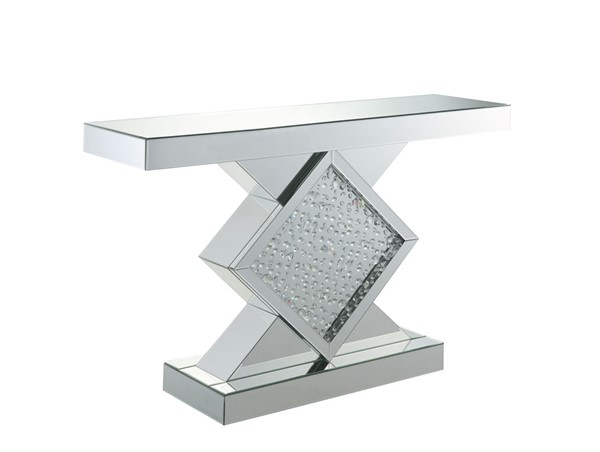 Acme Furniture Nysa Mirrored Rectangle Console Table ACM-90068