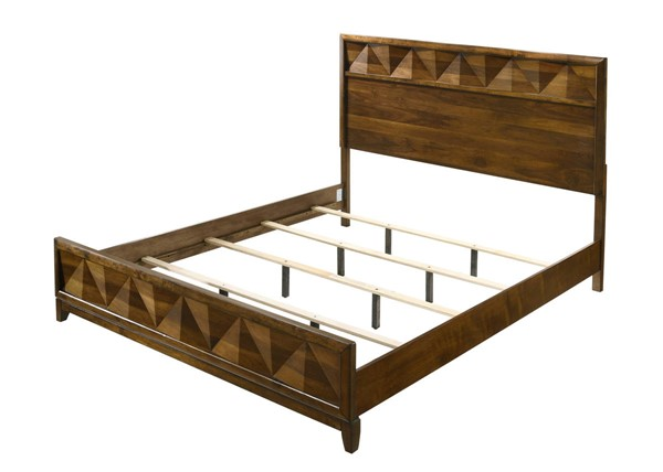 Acme Furniture Delilah Walnut Wood Veneer Beds ACM-2763-BED-VAR