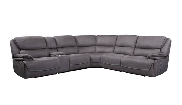 Acme Furniture Neelix Seal Gray Fabric Power Sectional Sofa ACM-55120