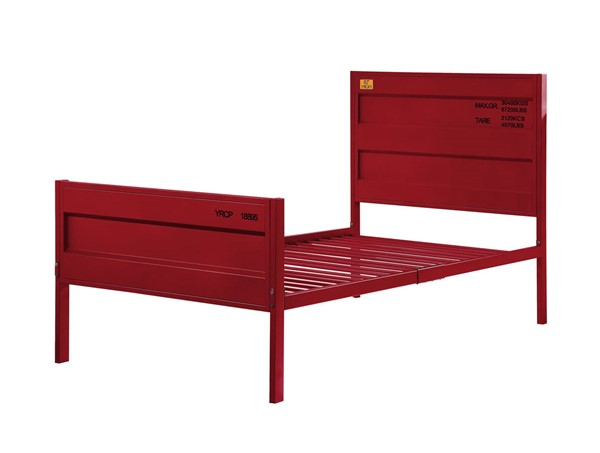 Acme Furniture Cargo Red Metal Full Bed ACM-35945F