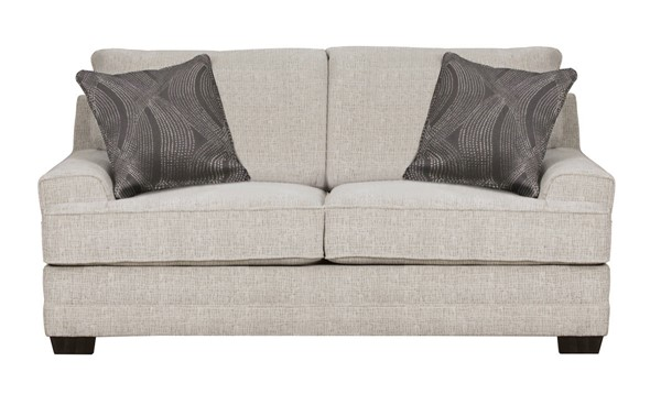 Acme Furniture Avedia Beige Gray Two Pillows Loveseat ACM-55806