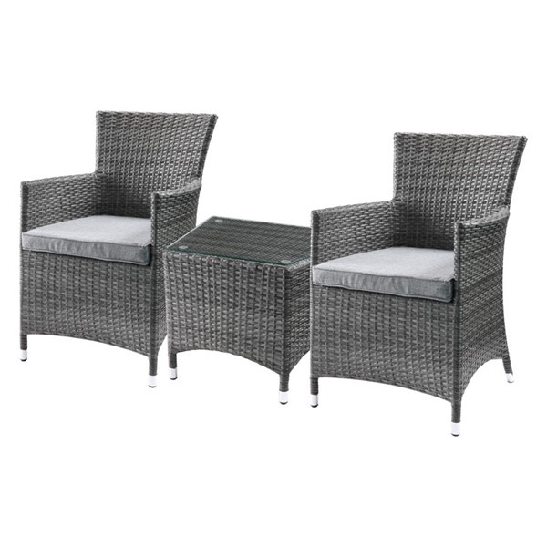 Acme Furniture Tashelle Gray 3pc Pack Bistro Set ACM-45000