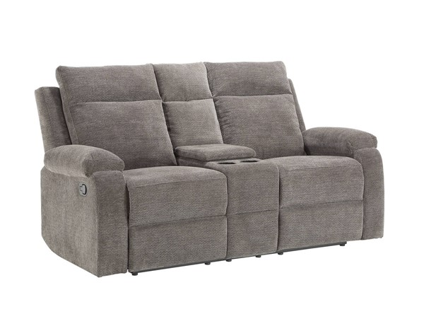 Acme Furniture Elijah Charcoal Chenille Loveseat with Console ACM-55116