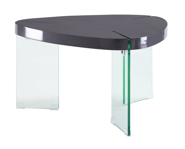 Acme Furniture Noland Clear Glass Gray High Gloss Wood Coffee Tables ACM-8491-CT-VAR