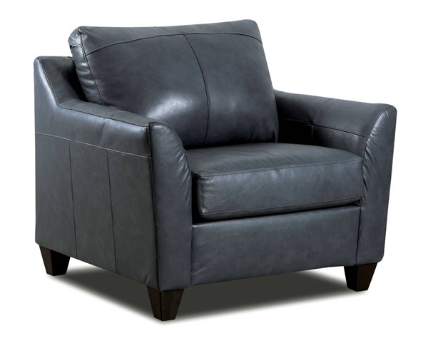 Acme Furniture Cocus Steel Blue Leather Chair ACM-55787