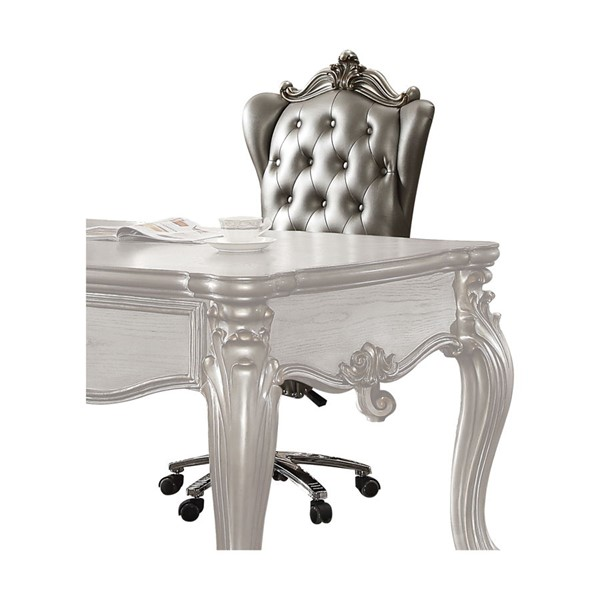Acme Furniture Versailles Silver Swivel and Lift Executive Chair ACM-92822