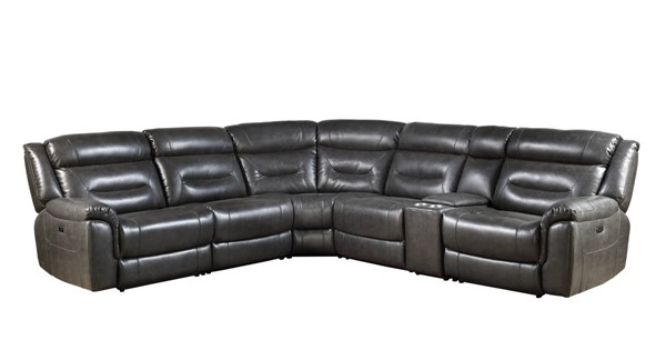Acme Furniture Imogen Gray Leather Power Sectional ACM-54810
