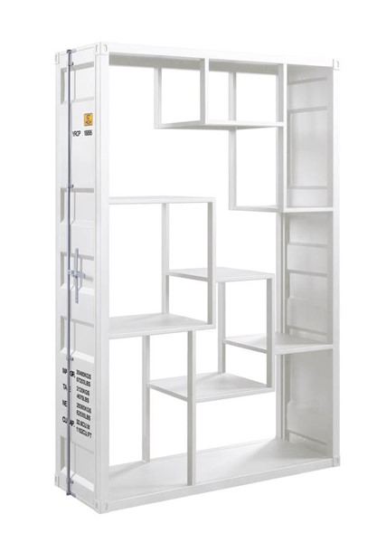 Acme Furniture Cargo White Metal Rack Book Shelf ACM-77888