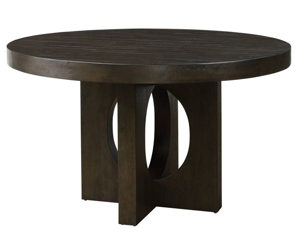 Acme Furniture Haddie Distressed Walnut Round Dining Table ACM-72215
