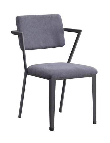 2 Acme Furniture Cargo Gray Gunmetal Dining Chairs ACM-77902