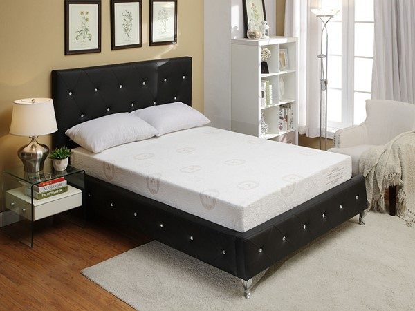 AC Pacific AC-BED16 Black Queen Bed ACP-AC-BED16-Q-BLK