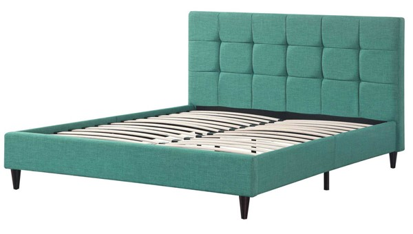 AC Pacific ACBED Teal Square Stitched Eastern King Platform Bed ACP-ACBED-05-EK