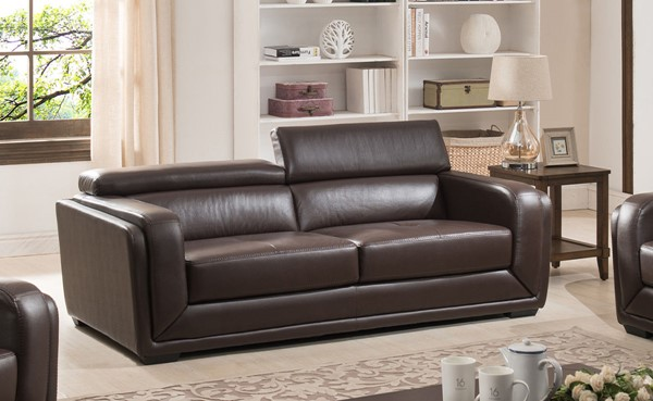 AC Pacific Calvin Brown Upholstered Sofa ACP-CALVIN-S