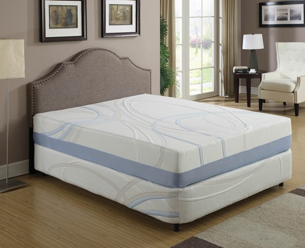 AC Pacific Charcogel 12 Inch Eastern King Gel Infused Memory Foam Mattress ACP-CHARCOGEL-12-EKM