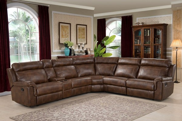 AC Pacific Clark Brown Sectional ACP-CLARK-6PC-SECTIONAL