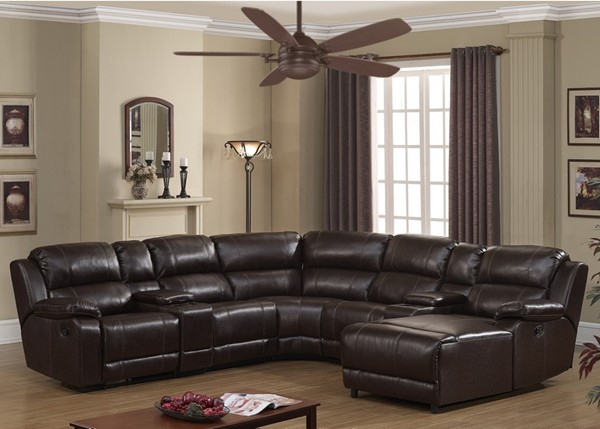 AC Pacific Colton Dark Brown Sectional ACP-COLTON-7PC-SECTIONAL