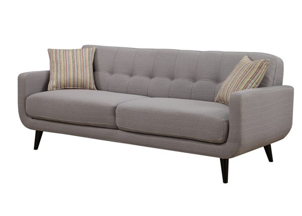 AC Pacific Crystal Tufted Sofa with 2 Accent Pillows ACP-CRYSTAL-SF-VAR