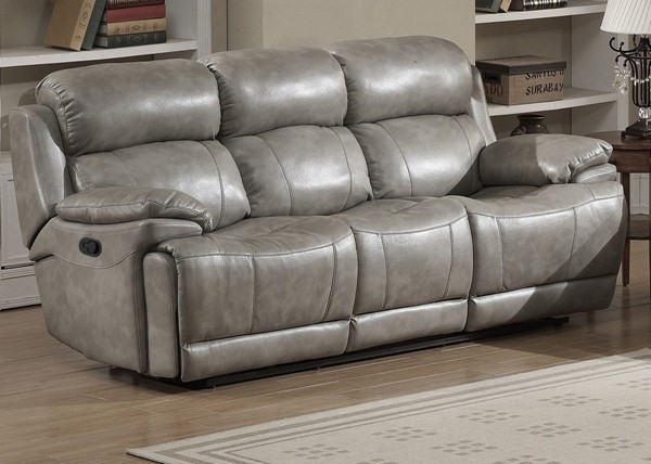 AC Pacific Estella Gray Dual Recliner Sofa ACP-ESTELLA-DRS
