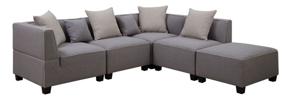 AC Pacific Holly Gray Sectionals ACP-HOLLY-5PC-SEC