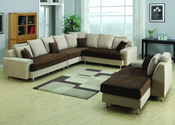 AC Pacific J2020 Brown Tan Left Sectional ACP-J2020-5PC-SET-L