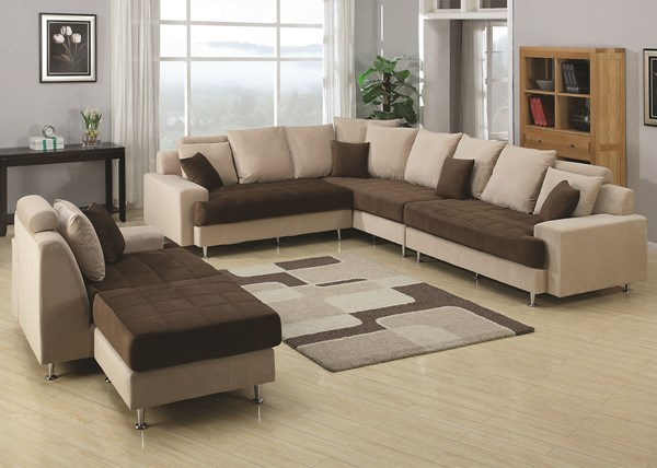 AC Pacific J2020 Brown Tan Right Sectional ACP-J2020-5PC-SET-R