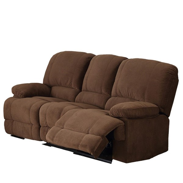 AC Pacific Kevin Brown Dual Reclining Sofa ACP-KEVIN-II-BROWN-DRS