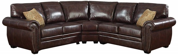AC Pacific Louis Brown Fabric Sectional ACP-LOUIS-BRN-3PC-SECTIONAL