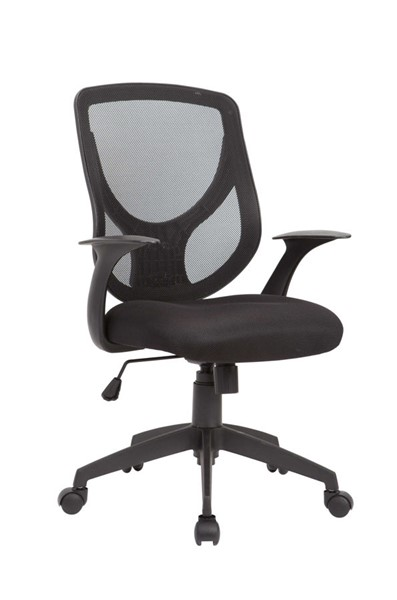 AC Pacific OC-05 Black Adjustable Swivel Office Chair ACP-OC-05