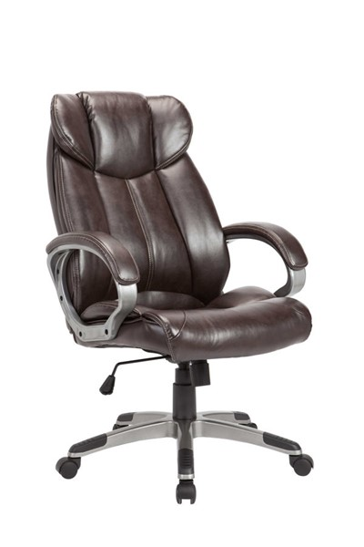 AC Pacific OC-09 Brown Adjustable Swivel Office Chair ACP-OC-09