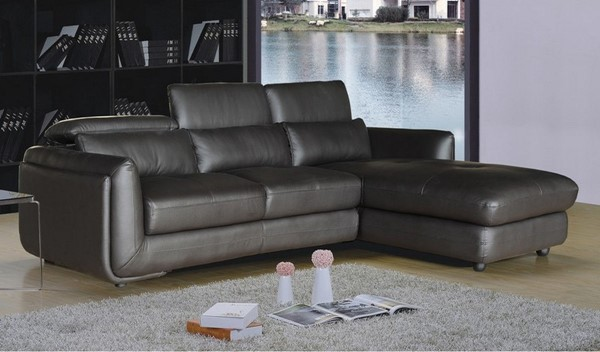 AC Pacific Ron Brown Leather Sectional ACP-RON-BRN-2PC-SECTIONAL