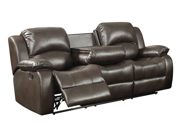 AC Pacific Samara Dark Brown Dual Reclining Sofa ACP-SAMARA-KT082502-DRS