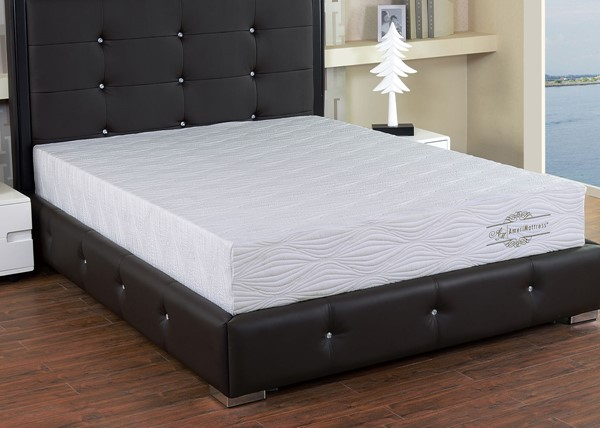 AC Pacific Viscogel White 8 Inch Cal King Gel Infused Memory Foam Mattress ACP-VISCOGEL-8-KM